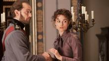 "Jude Law, left, stars as Alexei and Keira Knightley as Anna in Joe Wright's ""Anna Karenina,"" an Alliance Films release. (Laurie Sparham/THE CANADIAN PRESS)"