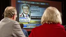 Liberal supporters watch election results roll in on May 2, 2011, in Toronto. (Frank Gunn/THE CANADIAN PRESS)