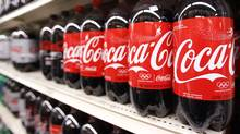Bottles of Coca-Cola are seen in a store display in New York. (LUCAS JACKSON/LUCAS JACKSON/REUTERS)