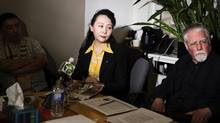 Chinese poet, journalist and activist Sheng Xue conducts reaches out to the media in desperation sharing that she has been accused of being a Chinese spy and that her tormenters are using the internet to destroy her reputation during a press conference in Toronto on Friday, March 4, 2016. (Michelle Siu/The Globe and Mail)