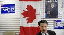 Bernard Trottier is photographed during at interview at his campaign headquarters in Etobicoke on May 3 2011. Trottier, a Conservative, upset Liberal incumbent Michael Ignatieff in the federal election. (Fred Lum/The Globe and Mail/Fred Lum/The Globe and Mail)