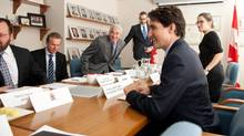 Prime Minister Justin Trudeau, speaking at an APMA roundtable in Toronto on Monday, is being lauded by auto-industry leaders for setting the right tone for NAFTA negotiations. (Galit Rodan/THE CANADIAN PRESS)