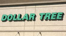 A view of the sign outside the Dollar Tree store in Westminster, Colo., Feb. 26, 2014. (© Rick Wilking / Reuters)