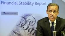 Bank of England governor Mark Carney speaks during the release of the Financial Stability Report, at the Bank of England in London June 26, 2014. (POOL/Reuters)