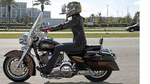 Jessica Phillips with 2007 Harley Davidson Road King.