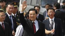 Security was tightened in the Indian capital of New Delhi on Wednesday before the arrival of BRICS leaders including China's President, Hu Jintao. (Saurabh Das/Associated Press/Saurabh Das/Associated Press)