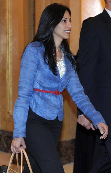 "Huma Abedin's husband Anthony Weiner, who was then a New York congressman, admitted to sexting several women and resigned from Congress in 2011. On Tuesday, in the midst of Mr. Weiner's campaign to be mayor of New York, more sexually charged texts were revealed, including some from last summer. Ms. Abedin appeared at a press conference with her husband on Tuesday after more texts surfaced. ""I made the decision that it was worth staying in this marriage and that was a decision I made for me, for our son and for our family. I didn't know how it would work out but I did know that I wanted to give it a try. Anthony has made some horrible mistakes both before he resigned from Congress and after but I do very strongly believe that that is between us, and our marriage."" They are still married. (Ms. Abedin heads to a meeting at the Emirates Palace Hotel in Abu Dhabi on June 9, 2011.) (POOL/REUTERS)"