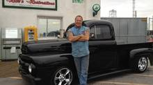 Rick Dale, car restoration expert and owner of Rick's Restorations, with his 1951 Ford F100