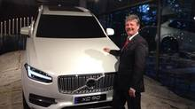 Volvo Canada president Marc Engelen in front of the auto maker's new XC90. (Jeremy Cato)