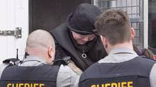 Melissa Ann Shepard, known as the Internet Black Widow, arrives at court in Dartmouth, N.S., on March 15, 2016. (Andrew Vaughan/THE CANADIAN PRESS)