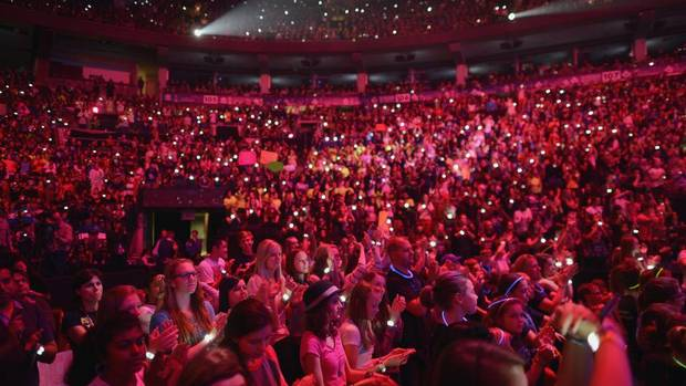 Thousands of students fill the Air Canada Centre for We Day celebrations in Toronto on Sept. 20, 2013. (Fred Lum/The Globe and Mail)