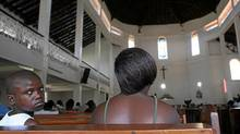 People attend a mass in an Evangelical and Pentecostal church in Kampala, Uganda. Uganda is a landlocked country in East Africa with a total estimated population of about 31 million people. (Franco Origlia/Getty Images/Franco Origlia/Getty Images)