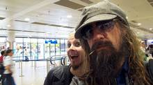 Arriving at Frankfurt Airport. (Handout)