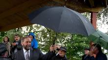 NDP leader Tom Mulcair will sit down with the NDP caucus next week in Saskatoon. (DARRYL DYCK/THE CANADIAN PRESS)