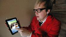 Chris Palin uses a streaming-music application on his tablet computer. He lost the music he had saved on his hard drive after dropping it. (Deborah Baic/The Globe and Mail/Deborah Baic/The Globe and Mail)
