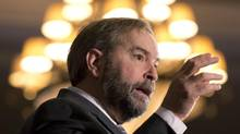 NDP Leader Thomas Mulcair speaks at the Canadian Network of National Associations of Regulators conference in Ottawa, Nov.8, 2012. (Adrian Wyld/THE CANADIAN PRESS)