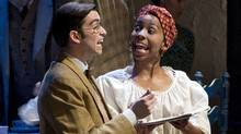 """Billy Lake as Kenneth Lake and Saccha Dennis as Marianne in """"French Without Tears"""" (David Cooper)"""