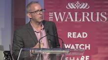 Former editor of the Walrus Jonathan Kay speaks at the Art Gallery of Ontario in Toronto in 2015. Mr. Kay said of his Walrus job: 'It was a great opportunity. But I was getting tired of being taken to task on Monday morning for stuff that I said on the CBC or tweeted.' (Youtube)