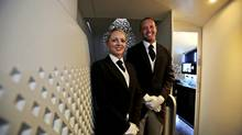 For the ultimate in travel comfort, Etihad Airways offers butler services in a three-room suite. (Kamran Jebreili/AP)