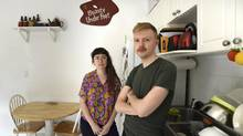 Ginette Lapalme and Patrick Kyle were evicted from their $1,150-a-month apartment after the landlord claimed the space for family reasons. Soon afterward, they say, the unit was on the market for $2,000. (Fred Lum/The Globe and Mail)