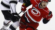 Tuomo Ruutu of Finland is just one of many Carolina Hurricanes eyeing a trip to the 2014 Sochi Winter Games. (file photo) (GERRY BROOME/AP)