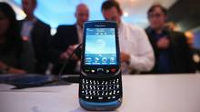 The new BlackBerry Torch 9800 smartphone is seen after being unveiled at a news conference August 3, 2010 in New York City (Mario Tama/2010 Getty Images)
