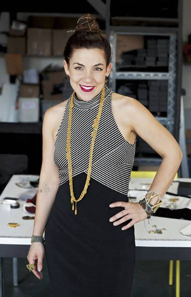 <p>Arielle de Pinto applies knitting techniques to a popular line of jewellery.</p>