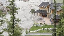 The community of Canmore declared a local state of emergency last week due to rising waters in Cougar Creek. (Laura Leyshon for The Globe and Mail)