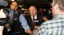 Mark Towhey, former chief of staff for Toronto Mayor Rob Ford leaves, City Hall after being fired in Toronto May 23, 2013. (Fernando Morales/The Globe and Mail)