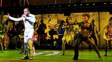 "Sahr Ngaujah as Fela Kuti with the Broadway cast of ""Fela!"" (CP)"