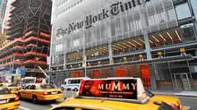 The New York Times building in New York City. (AP Photo/Mark Lennihan)