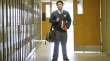 Lorenzo Colocado, grade 12 student at Chaminade College School, is photographed at his North York school May 10/2011. Colocado is the winner of a youth award run by Louise Russo. (Kevin Van Paassen/The Globe and Mail/Kevin Van Paassen/The Globe and Mail)