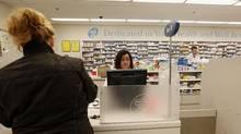 Toronto, Feb. 07/11 - Shoppers Drug Mart Prescription Centres and drug dispensary at a Shoppers Drug Mart location in Toronto, Ontario. (Deborah Baic/The Globe and Mail/Deborah Baic/The Globe and Mail)