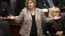 Ontario NDP Leader Andrea Horwath speaks at Queen's Park in Toronto on Feb. 18, 2014. (Kevin Van Paassen/The Globe and Mail)