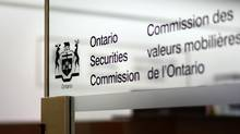 The entrance to the Ontario Securities Commission offices in Toronto. (Fred Lum/The Globe and Mail)
