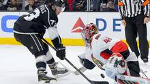 Ottawa Senators goalie Craig Anderson (41) stops a penalty shot by Los Angeles Kings center Tyler Toffoli (73) in the second period of the game at Staples Center in Los Angeles on Saturday, Jan. 16, 2016. (Jayne Kamin-Oncea/USA Today Sports)