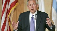'We are discouraged that we can't resolve some of the issues ... that relate to the framework of the economy, which are tax, fiscal, budgetary considerations,' said Boeing Co. CEO Jim McNerney, who chairs the Roundtable. 'We keep lurching from one crisis to another there in D.C.' (JOHN GRESS/REUTERS)