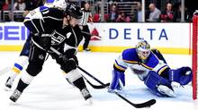 Annually in the running for the Selke Trophy, awarded to the NHL's best defensive forward, Anze Kopitar has also led the Los Angeles Kings in scoring for eight consecutive years. (Harry How/Getty Images)
