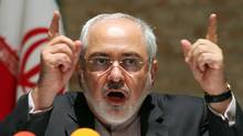 Iranian Foreign Minister Mohammad Javad Zarif speaks to the media after closed-door nuclear talks on Iran in Vienna, Tuesday, July 15, 2014. (Ronald Zak/Associated Press)