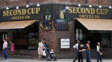 File photo of a Second Cup Coffee franchise in Toronto. (Ryan Carter/The Globe and Mail)