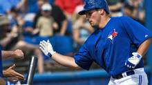 Toronto Blue Jays' Travis Snider suffered a wrist injury while playing in a game for Triple A Las Vegas on Thursday. FILE PHOTO: REUTERS/Steve Nesius (Steve Nesius/Reuters)