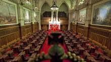 The Senate chamber sits empty on in Ottawa on Jan. 13, 2011. (Sean Kilpatrick/THE CANADIAN PRESS)