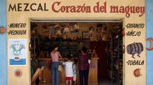 A Mezcal store in Oaxaca: Many of the best mezcals come from small-scale artisan distilleries in nearby villages. (Aubrey Washington/Reuters)