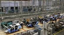 An overall view of the assembly line where the BMW X4 is made at the BMW manufacturing plant in Spartanburg, South Carolina March 28, 2014. (CHRIS KEANE/REUTERS)