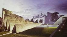 A rendering of the winning concept for the National Memorial to Victims of Communism, which will be situated near the Supreme Court of Canada, in Ottawa. (ABSTRAKT Studio/The Canadian Press)