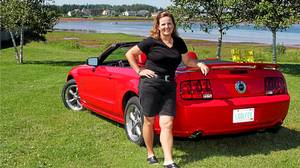 Golfer Lorie Kane, the pride of P.E.I., and her Ford Mustang