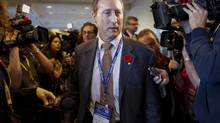 Justice Minister Peter MacKay at the Conservative party convention in Calgary, Nov. 1, 2013. (Jeff McIntosh/THE CANADIAN PRESS)
