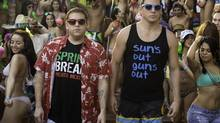 """Much of the comedy comes down a a chemistry between Jonah Hill, left, and Channing Tatum. ability to turn even the more juvenile gags (see: dick jokes) into hilariousness 22 JUMP STREET Jonah Hill, left, and Channing Tatum in Columbia Pictures' """"22 Jump Street."""" (Glen Wilson/Columbia Pictures)"""