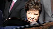South Korea's ousted leader Park Geun-hye leaves her private house in Seoul, South Korea, on March 30, 2017. (KIM HONG-JI/REUTERS)