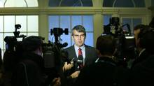 Stephen McNeil speaks to the media in Halifax on Oct. 9, 2013. (PAUL DARROW For The Globe and Mail)